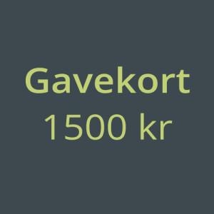 Gavekort 1500kr