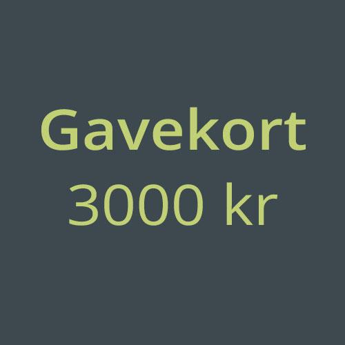 Gavekort 3000kr